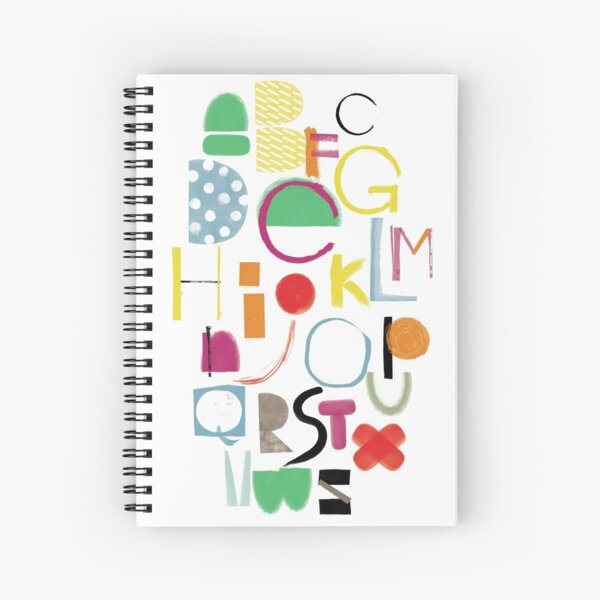 Cut&Paint Alphabet Spiral Notebook