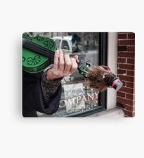 There's a groundhog on my fiddle Canvas Print