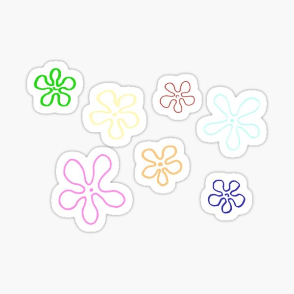SpongeBob Flowers Sticker