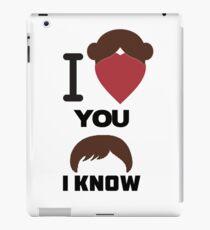 I Love You, I Know iPad Case/Skin