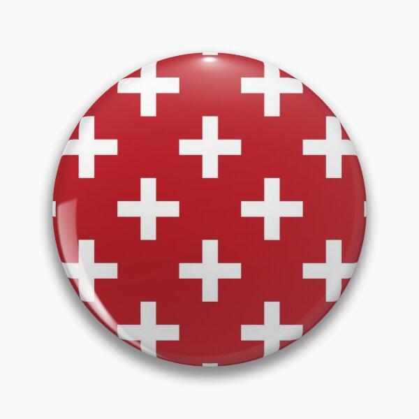 Crosses | Criss Cross | Swiss Cross | Hygge | Scandi | Plus Sign | Red and White |  Pin