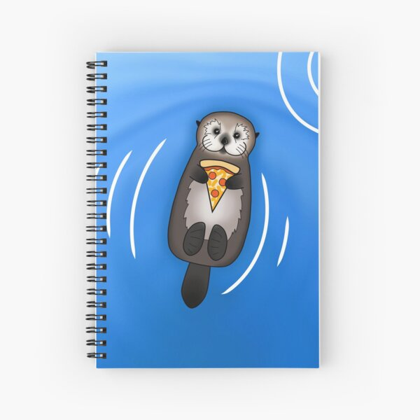 Sea Otter with Pizza Spiral Notebook