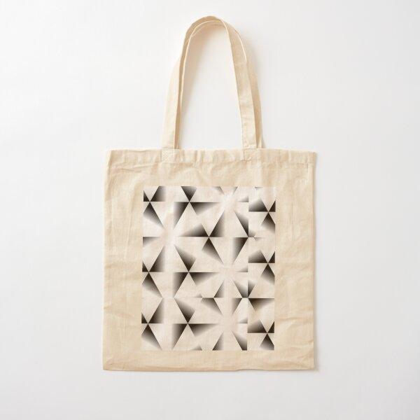 Black, diamond, Africa, deco, optical illusion Cotton Tote Bag