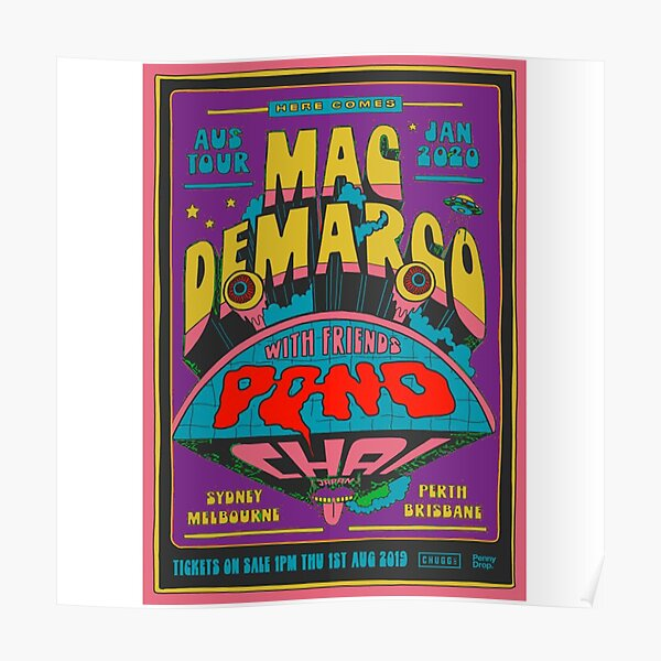 Mac Demarco Retro Design Poster