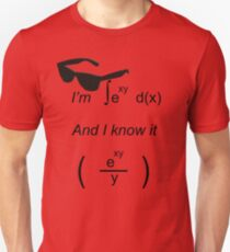 I'm integral(e^xy) and I know it Unisex T-Shirt