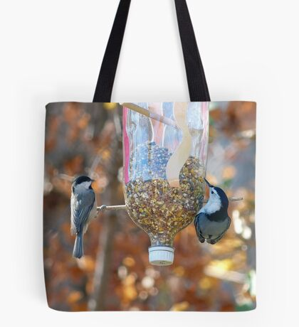 Chickadee & Nuthatch Tote Bag