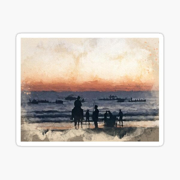 ANZAC Day Mooloolaba Beach Art Sticker