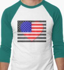 United States Flag T-shirt Men's Baseball ¾ T-Shirt