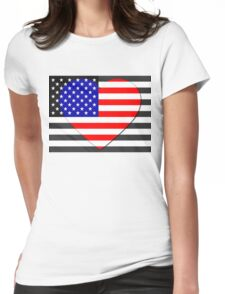 United States Flag T-shirt Womens Fitted T-Shirt