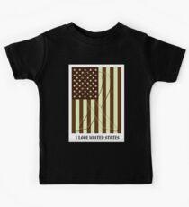 United States Flag Vintage T-shirt Kids Tee