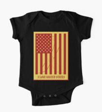 United States Flag Vintage T-shirt One Piece - Short Sleeve