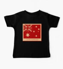Australia Flag Vintage T-shirt Baby Tee