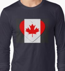 Canada Flag T-shirt Long Sleeve T-Shirt