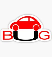 The Love Bug - Vintage cars T-Shirt Sticker