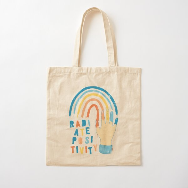 Radiate Positivity Cotton Tote Bag