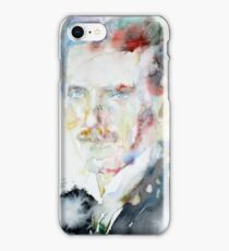 NIKOLA TESLA - watercolor portrait.3 iPhone Case/Skin