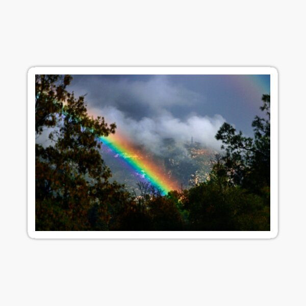 Rainbow in the Clouds Sticker