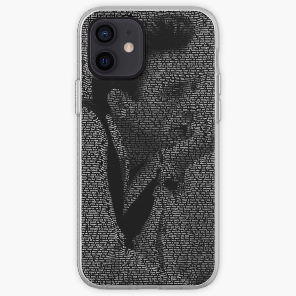 Johnny Cash Lyrical Portrait iPhone Soft Case