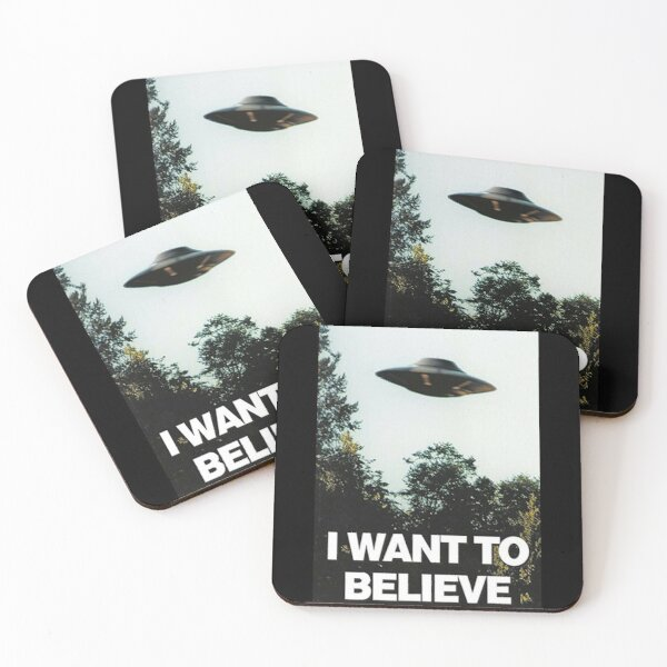 I want to believe Coasters (Set of 4)