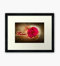 A ribbon of Love Framed Print