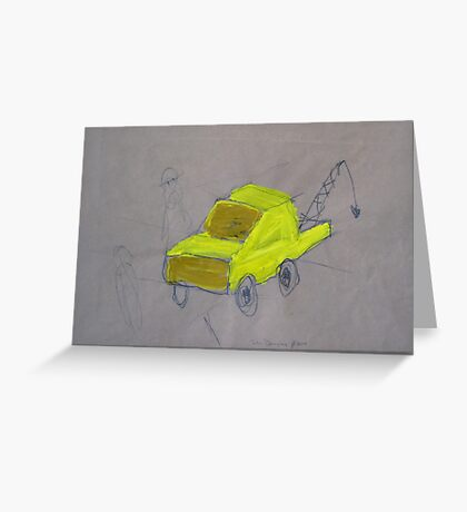 We Built A Yellow Tow Truck Greeting Card