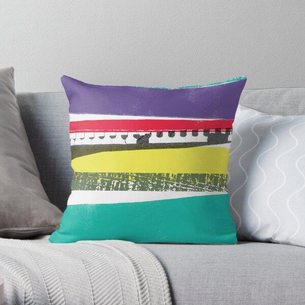 Strips of Colour Throw Pillow