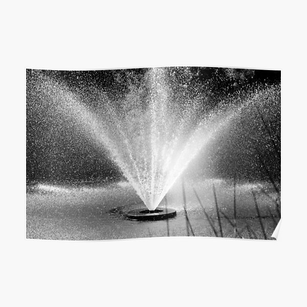 Waterperry fountain Poster
