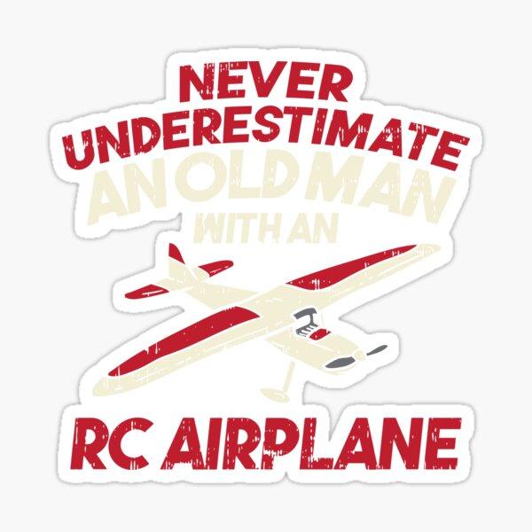 RC Plane Remote Radio Control Controlled Gift Sticker