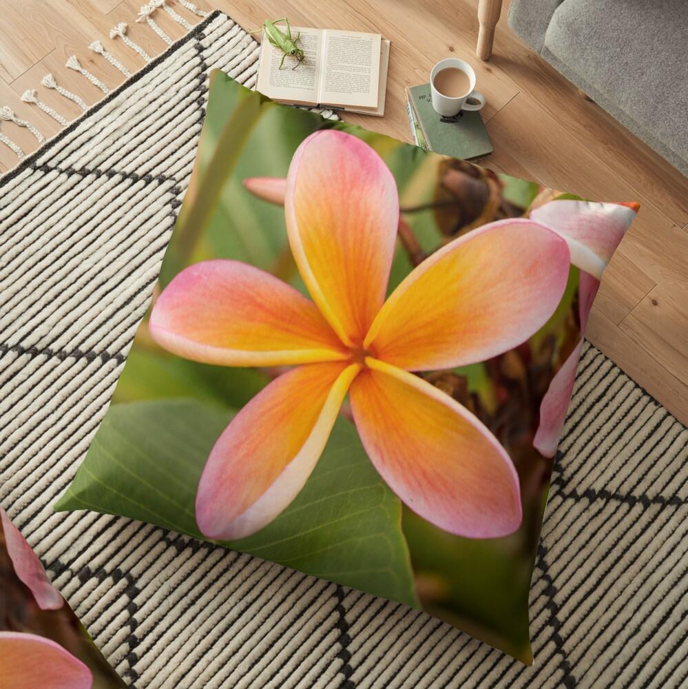 Frangipani - square I Floor Pillow