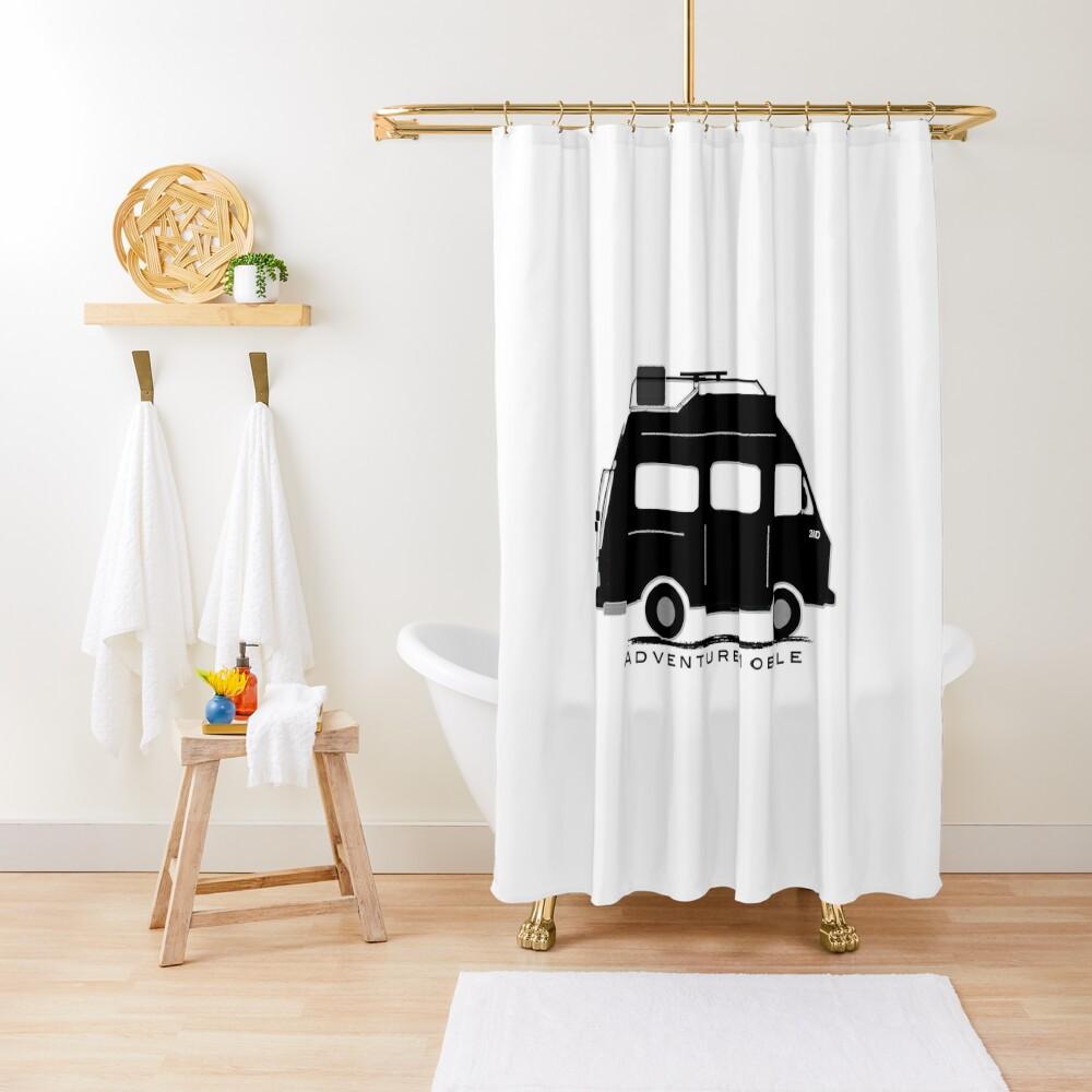 The Florida Fatwesty Adventure Campervan Shower Curtain