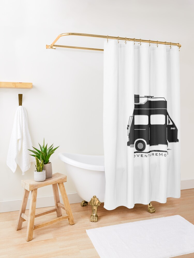 Alternate view of The Florida Fatwesty Adventure Campervan Shower Curtain