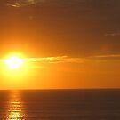 Golden Sky and Ocean - Cielo y Mar Dorado by PtoVallartaMex
