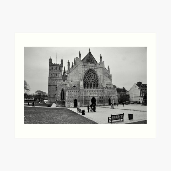 Exeter Cathedral Green In Winter Art Print