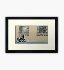 On a bicycle made for two Framed Print