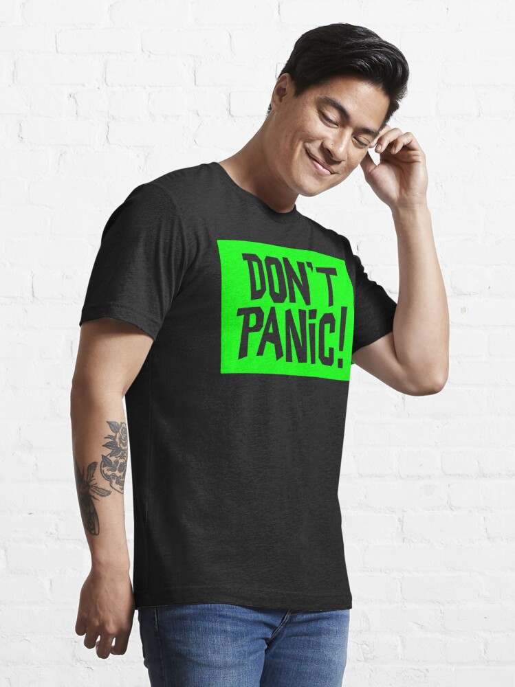 Alternate view of NDVH Don't Panic - Green 2 H2G2 Essential T-Shirt