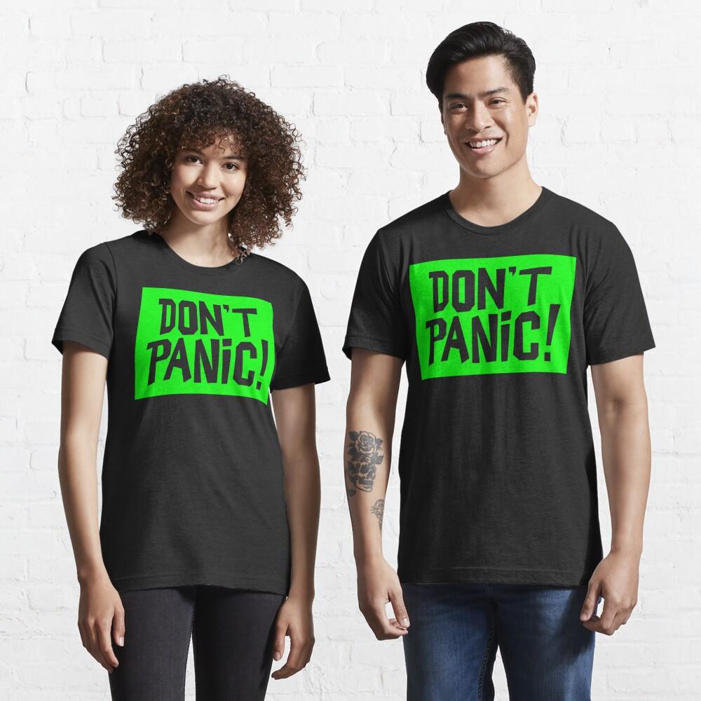 NDVH Don't Panic - Green 2 H2G2 Essential T-Shirt
