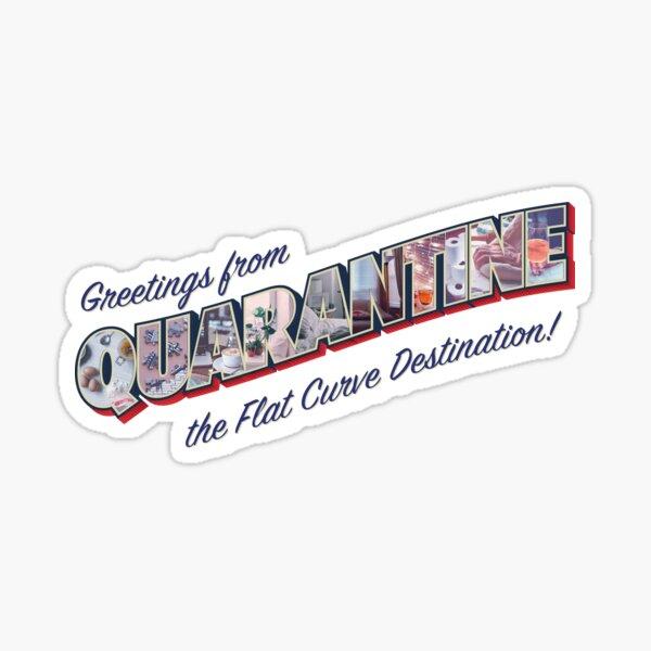 Greetings from Quarantine Sticker Sticker