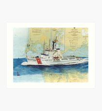USCGC Alert Nautical Chart Map Cathy Peek  Art Print