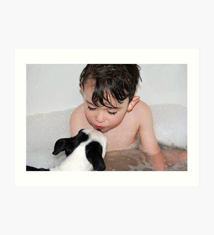 Puppy kisses... Art Print