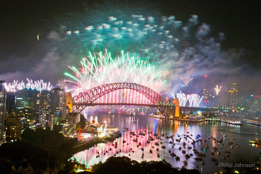 Simply The Best ! - Sydney NYE Fireworks  #11 by Philip Johnson