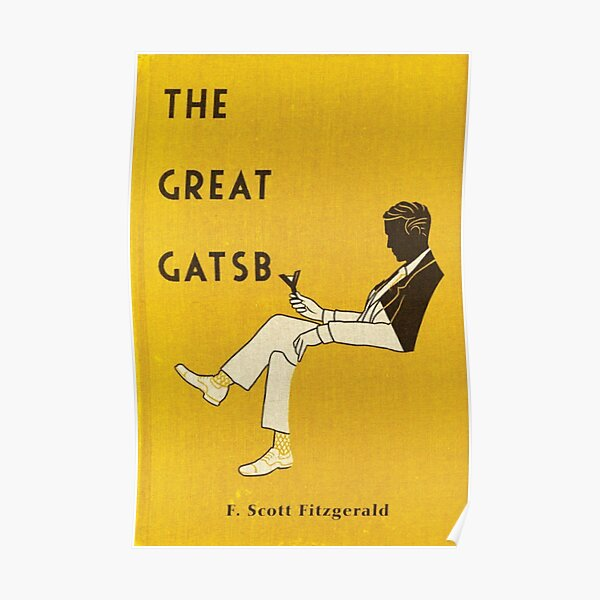 The Great Gatsby Book Cover Poster