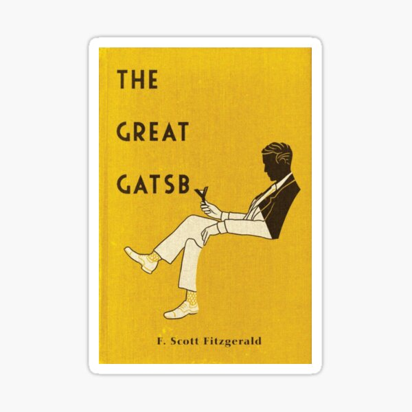 The Great Gatsby Book Cover Sticker