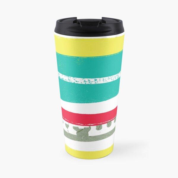 Paper Stripes Travel Mug