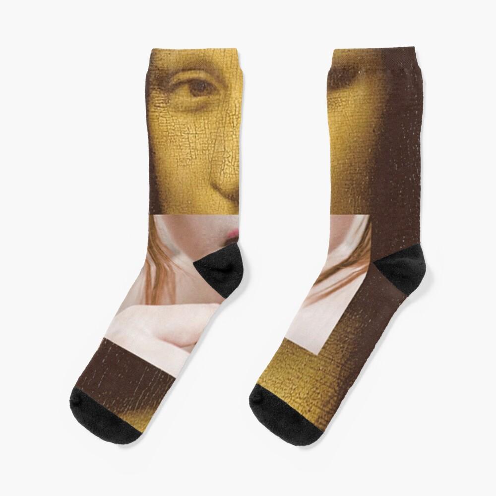 Mona Lisa Lollipop Selfie Search Results Web results  Leonardo da Vinci Pop Culture Print Socks