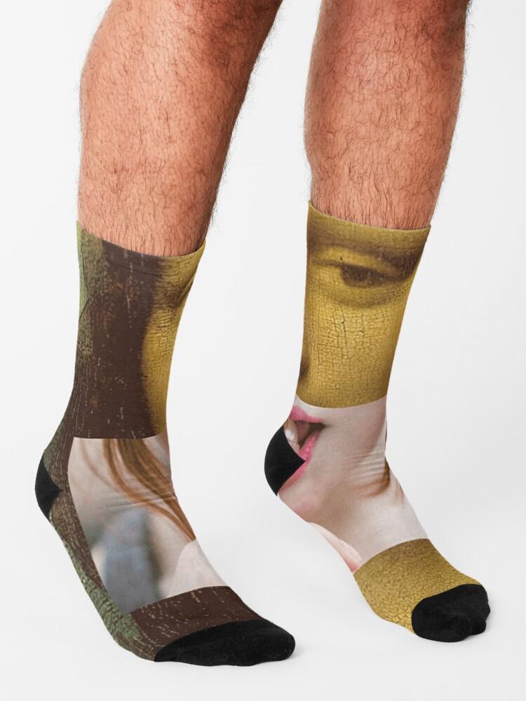 Alternate view of Mona Lisa Lollipop Selfie Search Results Web results  Leonardo da Vinci Pop Culture Print Socks