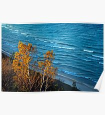 Lake Michigan from Arcadia Overlook  Poster