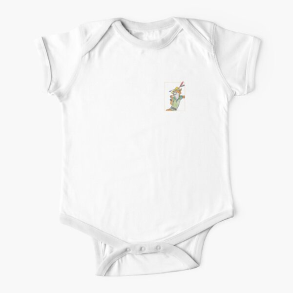 Cartoon Robin Hood  Short Sleeve Baby One-Piece