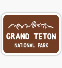 Grand Teton National Park Entrance Sign, Wyoming, USA Sticker