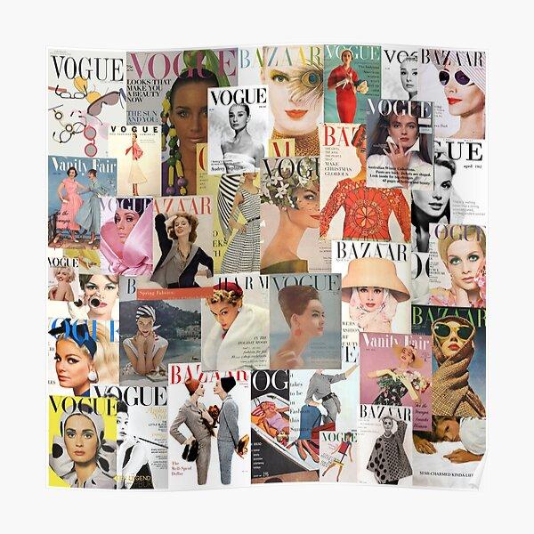 Vintage Magazine Collage Poster