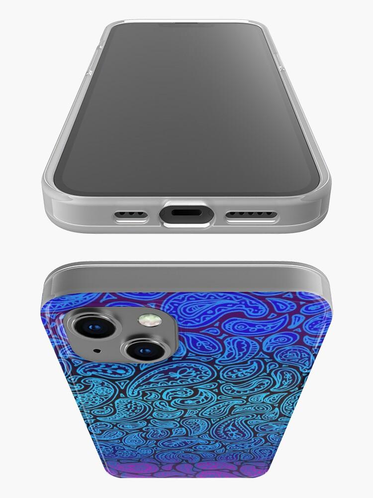 Alternate view of Purple Paisley iPhone Case